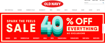 Old Navy : 40% OFF ENTIRE store at Old Navy, no exclusions!