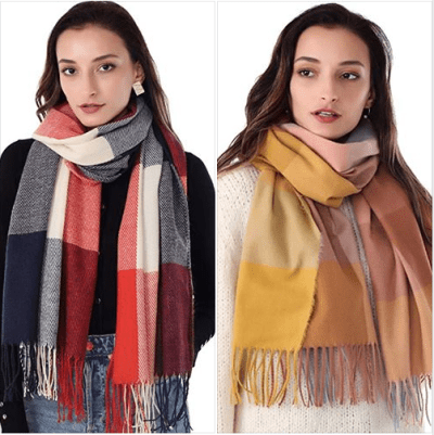 Amazon : Plaid Winter Scarf Just $4.49-6.49 W/Code (Reg : $8.98-12.98) (As of 11/18/2019 8.05 PM CST)