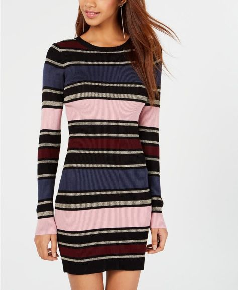 Planet Gold Juniors' Striped Bodycon Dress for $14.99 (reg: $39.99)