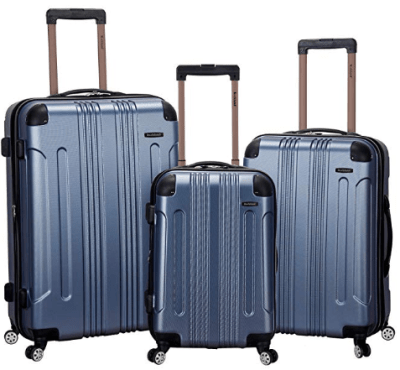 Amazon : Rockland Luggage 3 Piece Abs Upright Luggage Set, Blue, Medium Just $115 W/Code (Reg : $480) (As of 11/18/2019 8.57 PM CST)