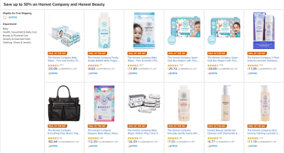 Amazon : SAVE UP TO 52% ON Honest Company and Honest Beauty Starting as low as $7.55 (As of 11/12/2019 5.50 AM CST)
