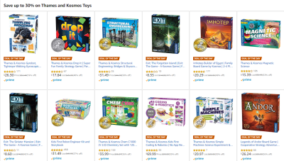 Amazon : SAVE UP TO 56% ON Thames and Kosmos Toys Starting as low as $6.99 (As of 11/12/2019 5.45 AM CST)