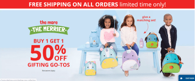 Skip Hop : Buy-1-get-1-50% Off Plus Free Shipping On Everything!
