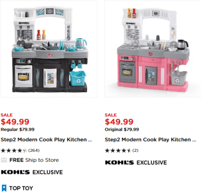 Kohl's : Step2 Modern Cook Play Kitchen Set Just $39.99 AFTER $10 KC (Reg $79.99)