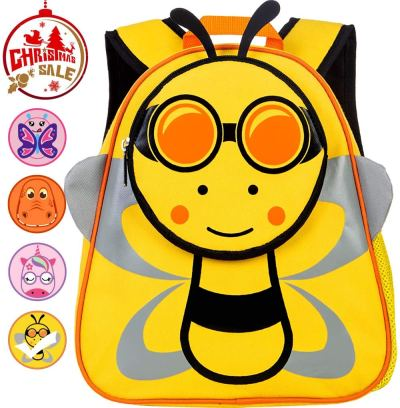 """Amazon : Toddler Backpack, 12"""" Bee Preschool Bag for Girls and Boys Just $6.90 W/Code (Reg : $22.99) (As of 11/22/2019 6.05 AM CST)"""