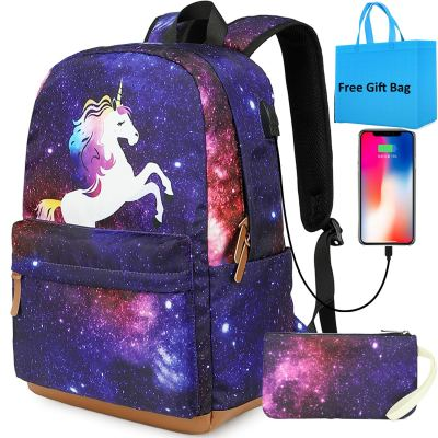 Amazon : Unicorn Laptop Bookbag with USB Charging Port Just $15.99 W/Code (Reg : $31.99) (As of 11/06/2019 2.55 PM CST)