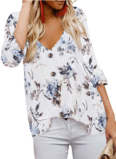 Amazon : Women's Casual Deep V Neck Button Down Spaghetti Strap Tank Tops Just $9.99 W/Code (Reg : $19.99) (As of 11/18/2019 12.07 PM CST)