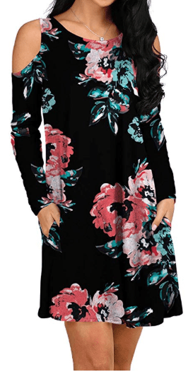Amazon : Women's Cold Shoulder Swing Dresses Just $16.49 W/Code (Reg : $32.99) (As of 11/18/2019 12.03 PM CST)