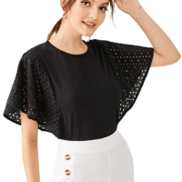 Amazon : Women's Contrast Lace Ruffle Hem Peplum Tops Just $4.99 W/Code (Reg : $19.96) (As of 11/18/2019 8.58 AM CST)