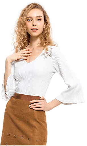 Amazon : Women's Deep V Neck Sweater Just $5.70 - $7.80 W/Code (Reg : $18.99 - $26.99 ) (As of 11/21/2019 8.50 PM CST)