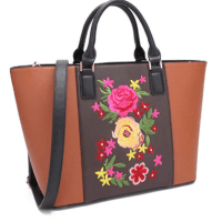 Amazon : 80% Off Women's Large Floral Embroidery Tote Handbag Just $6.59 W/Code + 30% Off Coupon (Reg : $32.99) (As of 11/18/2019 5.20 AM CST)