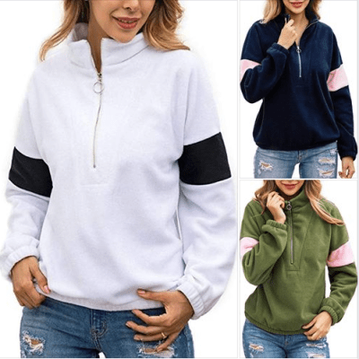 Amazon : Women's Long Sleeve Half Zipper Pullover Sweatshirt Just $14.99 W/Code (Reg : $27.99) (As of 11/18/2019 3.25 PM CST)
