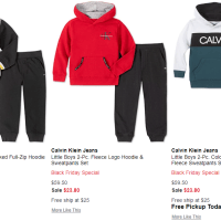 Macy's : Black Friday Special Calvin Klein Toddler Boys 2-pc. Fleece Logo Hoodie & Sweatpants Set Sale!