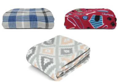 Mainstays Fleece Plush Throw Blanket, 50″ x 60″, Dog House for just $2.50 + Free Store Pickup