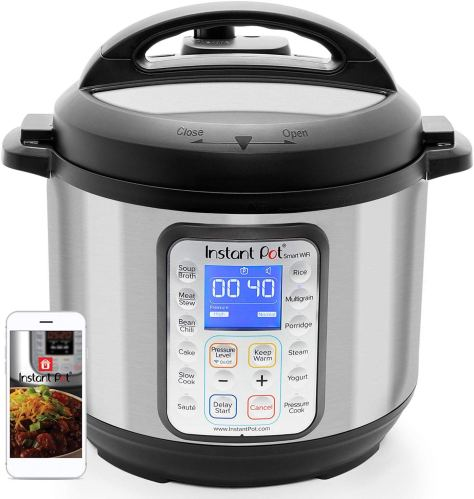 Instant Pot Smart WiFi 8-in-1 Electric Pressure Cooker, Slow Cooker, Rice Cooker, Steamer |6 Quart|13 One-Touch Programs for $89.99 (reg: $149.95)