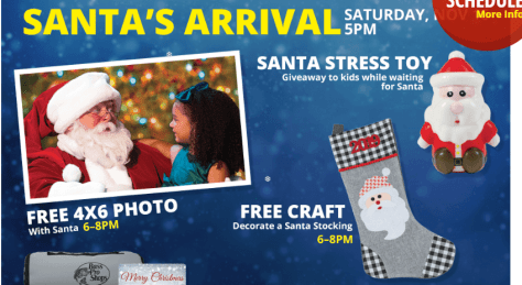 On November 16th from 5PM – 8PM, kids can get a FREE 4×6 Photo with Santa at Bass Pro Shops or Cabela's! Plus, they will receive a FREE Santa Stress Toy, decorate a Santa stocking, and more! These events will also be happening at select times through December 24th, and activities may vary by location so check the schedule here.