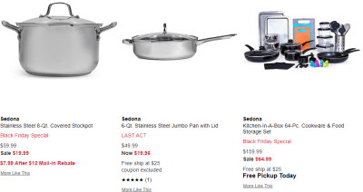 Macy's : Black Friday Special Sedona Cookware Sale With Mail in Rebate!