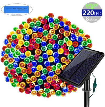 Amazon : 78ft 220 LED Solar String Lights Waterproof 8 Modes Multicolor Just $10.14 W/Code (Reg : $49.99) (As of 12/09/2019 2.15 PM CST)