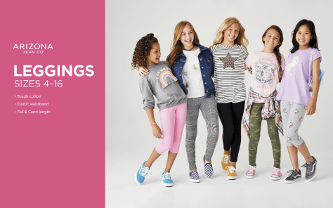 Girls' Arizona Leggings ONLY $4.49 at JCPenney (Reg $14) – Today Only!