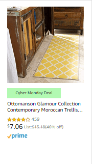 Amazon : CYBER MONDAY LIVE ! SAVE ON AREA RUGS (As of 12/02/2019 10.42 AM CST)
