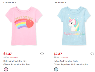 The Children's Place : Graphic Tee's Just $2.37!