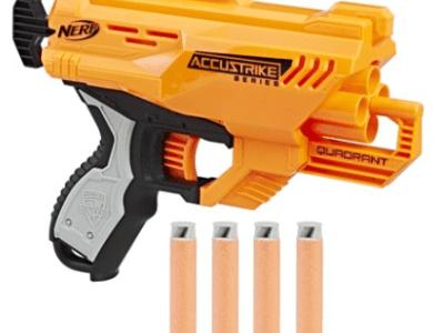 Walmart : Nerf AccuStrike Elite Quadrant Blaster Just $3.98 (Reg : $9.97)