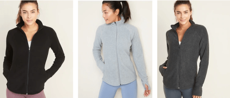 Old Navy Women's Micro Performance Fleece Zip-Up Jackets as Low as $5.60 Shipped (Regularly $30)