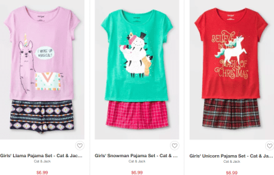Target : Pajama Sets From $6.99!