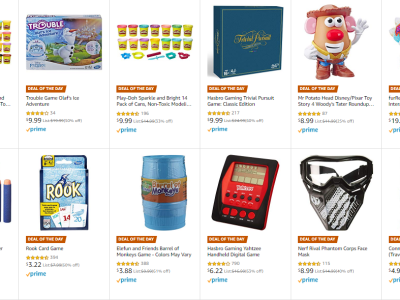 Amazon : Save up to 67% on Nerf, Play-Doh, and Hasbro Games Just Starting as low as $3.22 (As of 12/21/2019 6.30 AM CST)