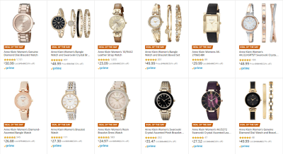 Amazon : Save up to 67% off select Anne Klein Watch Gifts Just Starting as low as $23.09 (As of 12/21/2019 6.20 AM CST)