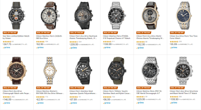 Amazon : SAVE UP TO 68% ON SELECTED CITIZEN WATCHES Just Starting as low as Starting as low as $64.99 (As of 12/12/2019 8.18 AM CST)