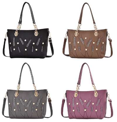Amazon : Women PU Leather Stylish Top Handle Handbags Just $11.99 W/Code (Reg : $39.99) (As of 12/11/2019 6.27 PM CST)