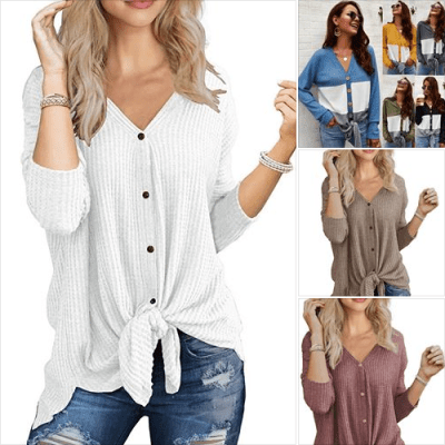 Amazon : Women's Long Sleeve V Neck Tops Just $9.79 W/Code (Reg : $27.99) (As of 12/12/2019 9.21 AM CST)