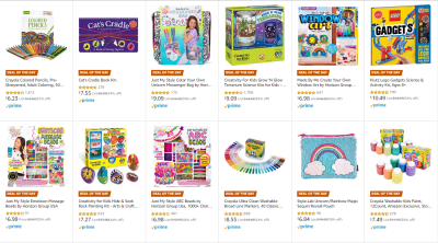 Amazon : SAVE UP TO 72% ON ARTS & CRAFTS GIFT SETS Just Starting as low as $3.49 (As of 12/12/2019 8.10 AM CST)