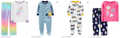 Buy 1 Get 2 FREE Carter's Pajamas & Tees (Staring at JUST $4 Each!) – Today Only!