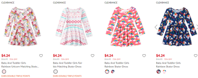The Children's place : Girl's Skater Dresses for $4.24 & Party Dresses for $7.99 !