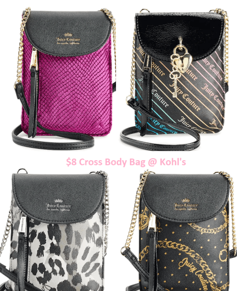 Juicy Couture Crossbody Bags for $8 at Kohl's