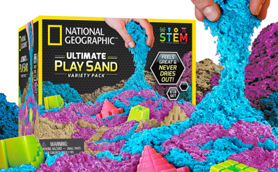 National Geographic Play Sand Combo Pack ONLY $22 at Amazon – Highly Rated!