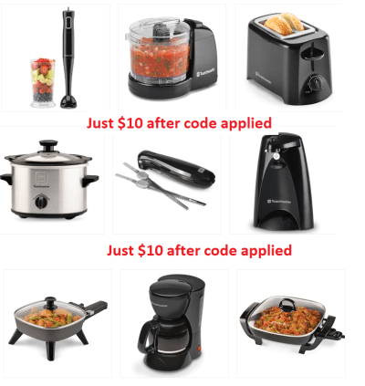 Toastmaster Small Appliances JUST $10 Each + $10 Kohl's Cash & FREE Shipping (Reg $25)