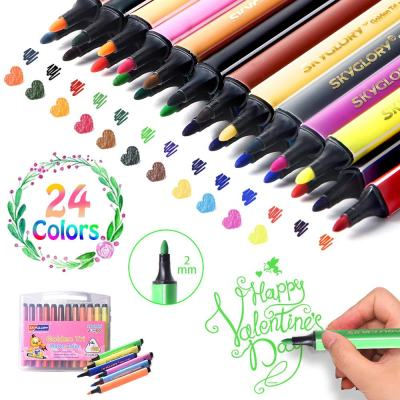 Amazon : 24 Colors Art Markers Pens Just $9.60 W/Code (Reg : $39.99) (As of 1/22/2020 5.10 PM CST)