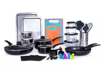 Macy's : 64-Pc. Cookware & Food Storage Set Just $54.39 W/Code (Reg $159.99)