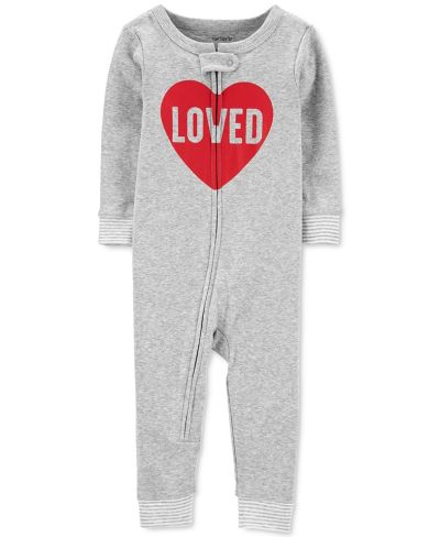 MACY'S: Carter's Baby Boys & Girls 1-Pc. Cotton Loved Pajama, JUST $9.00 (Reg $20.00) with code YAY