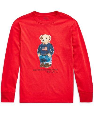 MACY'S: Ralph Lauren Big Boys Bear Cotton Long-Sleeve T-Shirt, JUST $15.75 (Reg $35.00) with code YAY