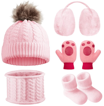 Amazon : Baby Winter Warm Knit Set of 5 Just $5.99 - $6.99 W/Code (Reg : $16.99) (As of 1/22/2020 6 PM CST)