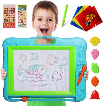 Amazon : Extra Large Magnetic Drawing Board 18×13 with Stamps & Stencils & Replacement Pen Just $9.99 W/Code (Reg : $19.99) (As of 1/22/2020 10.44 AM CST)