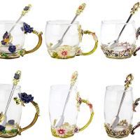 Amazon : Flower Glass Tea Mug Just $2.12 - $7.58 W/Code  (Reg : $10.59 - $42.11) (As of 1/20/2020 9.54 AM CST)