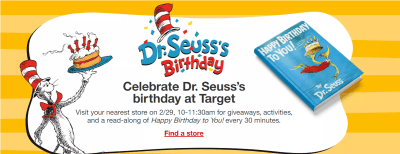FREE Dr. Seuss's Birthday Kids Event at Target (February 29th Only) – Get Ready!