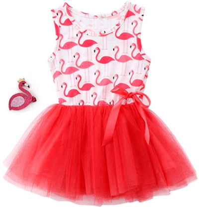 Amazon : Girls Flamingo Tulle Dresses Just $12.88 W/Code (Reg : $25.76) (As of 1/24/2020 10.18 PM CST)