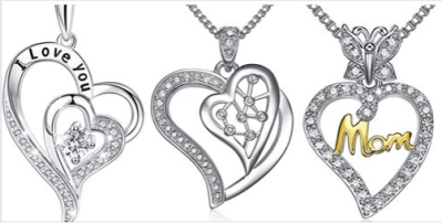 Amazon : Love Heart Pendant Necklace Just AS LOW AS $8.54 W/Code (Reg : $18.99) (As of 1/13/2020 11.35 AM CST)