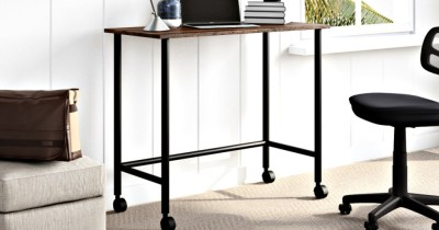 Mainstays Rolling Writing Desk Only $22.33 at Walmart.com (Regularly $55)